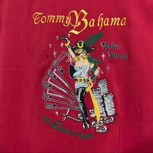 TOMMY BAHAMA Embroidered Poker Pirate Shirt